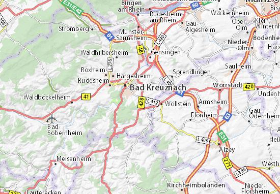 Karte Stadtplan Hackenheim