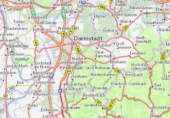 Mapa Nieder Ramstadt