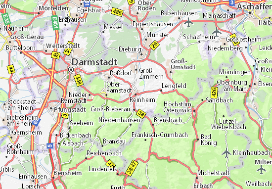 Map Zwingenberg Germany.Reinheim Map Detailed Maps For The City Of Reinheim Viamichelin