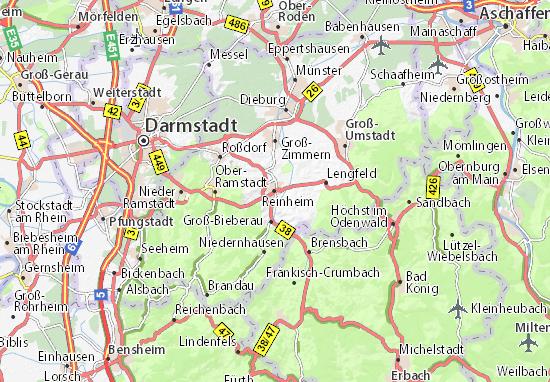 Karte Stadtplan Reinheim