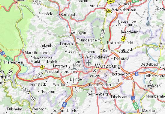 Carte-Plan Veitshöchheim