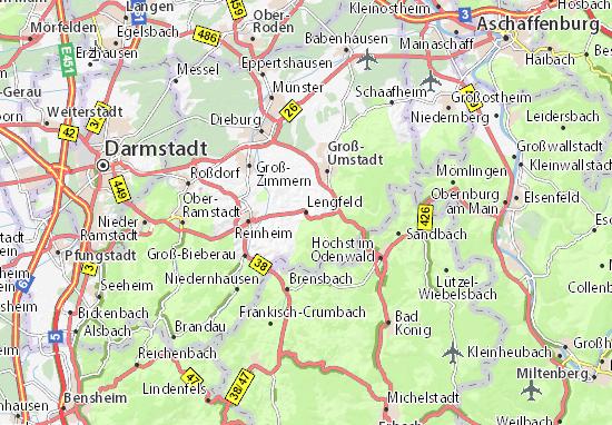 Karte Stadtplan Lengfeld