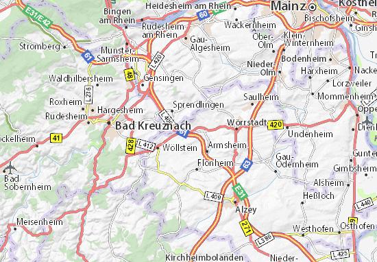 Gau-Bickelheim Map