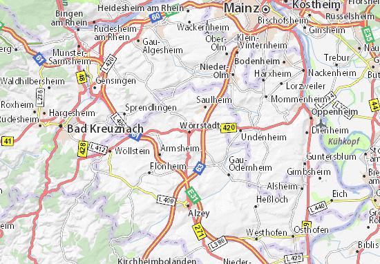 Karte Stadtplan Wörrstadt