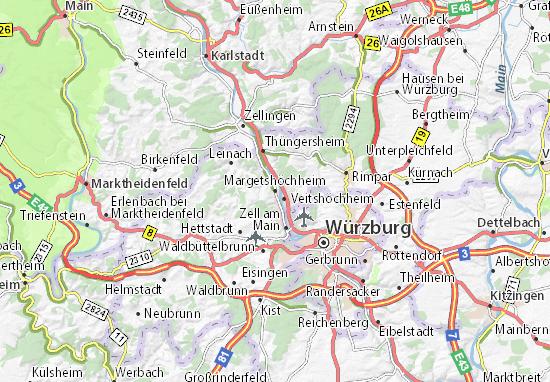 Karte Stadtplan Margetshöchheim