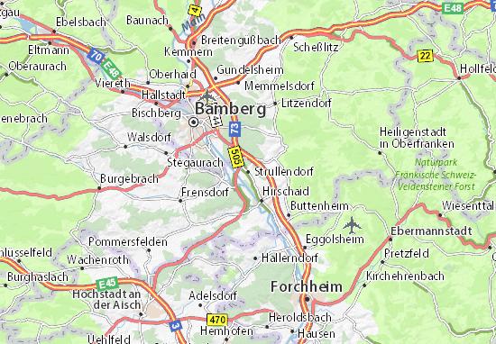 Strullendorf Map