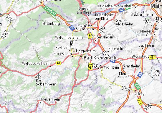 Kaart Plattegrond Bad Kreuznach