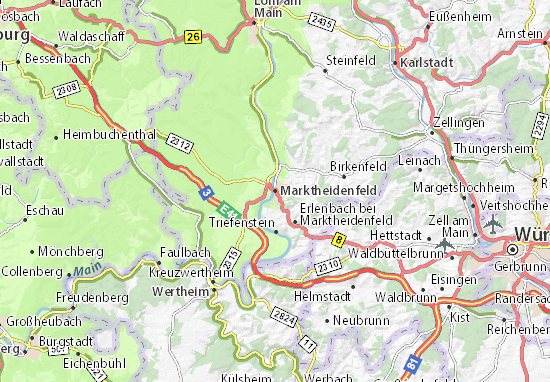Karte Stadtplan Marktheidenfeld