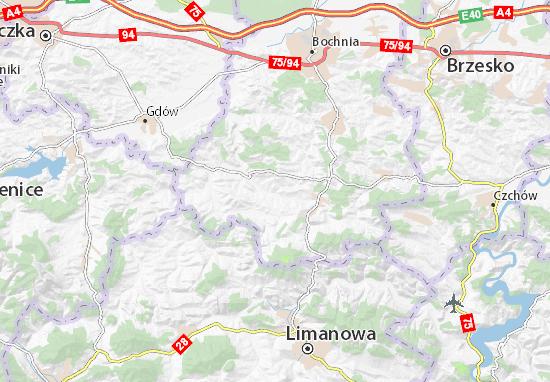 Kaart Plattegrond Trzciana