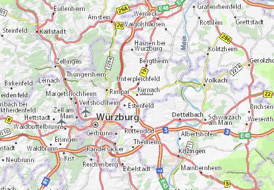 Karte Stadtplan Kürnach