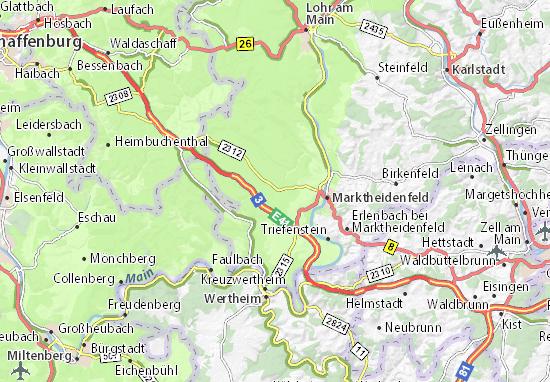 Karte Stadtplan Esselbach