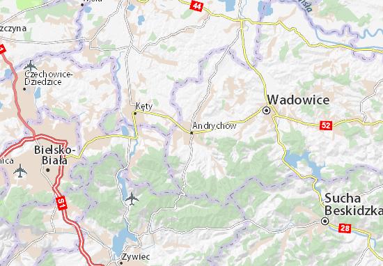 Andrychów Map