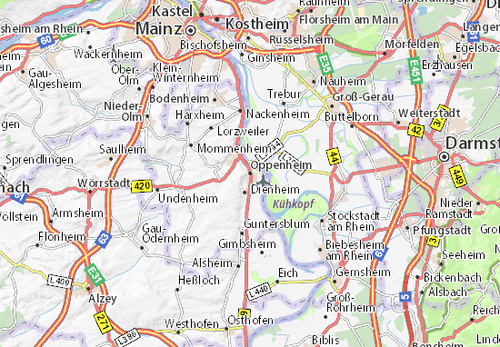 Carte-Plan Oppenheim
