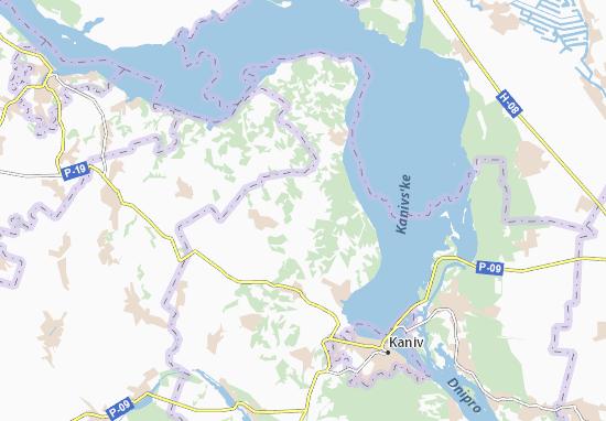 Pshenychnyky Map