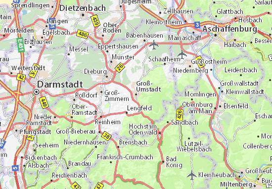 Karte Stadtplan Groß-Umstadt