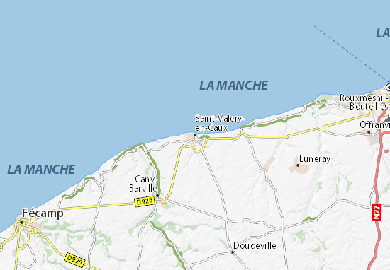 Kaart Plattegrond Saint-Valery-en-Caux