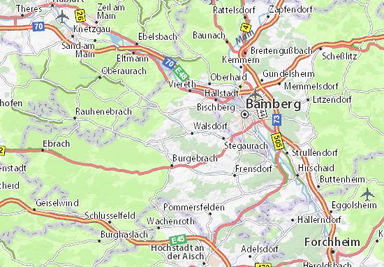 Kaart Plattegrond Walsdorf