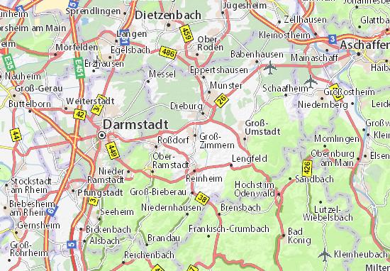 Karte Stadtplan Groß-Zimmern
