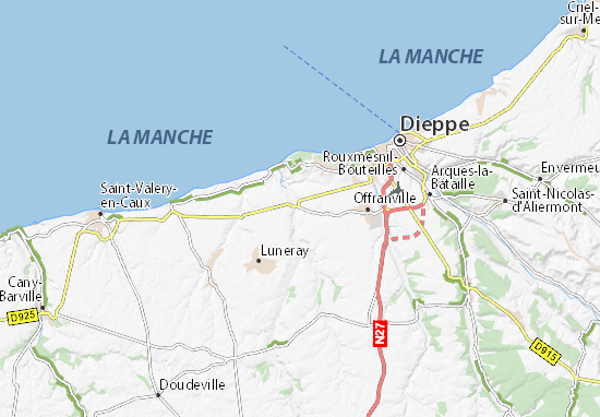 Carte-Plan Ouville-la-Rivière