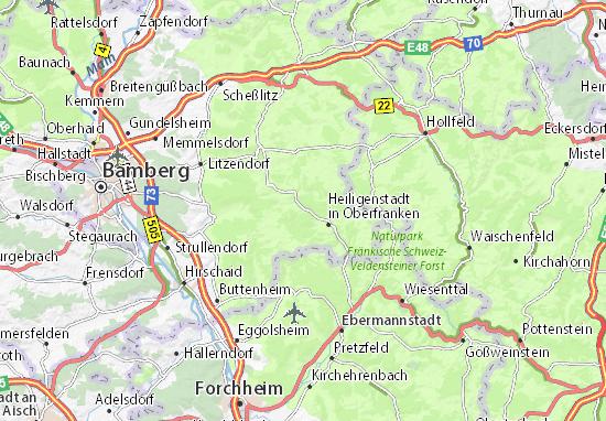 Oberfranken Karte.Karte Stadtplan Burggrub Viamichelin