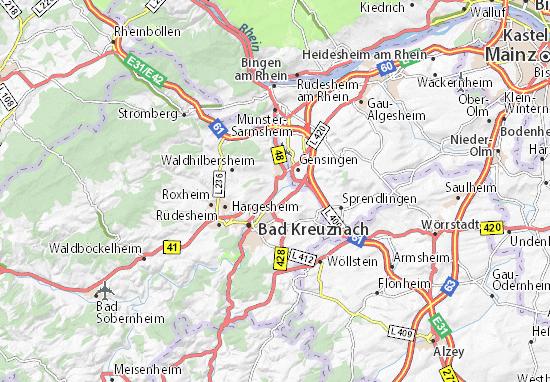 Kaart Plattegrond Bretzenheim