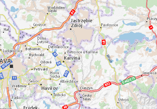 Mapa Zebrzydowice