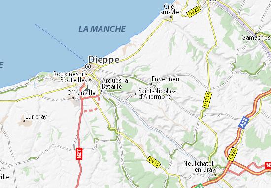 Karte Stadtplan Saint-Nicolas-d'Aliermont