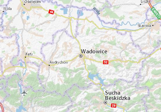 Mapa Wadowice