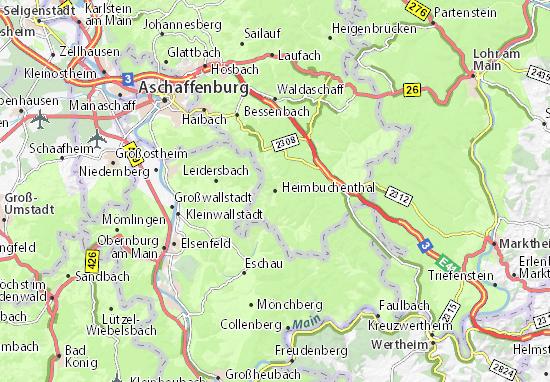Heimbuchenthal Map