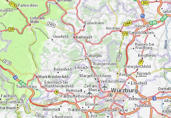 Karte Stadtplan Zellingen
