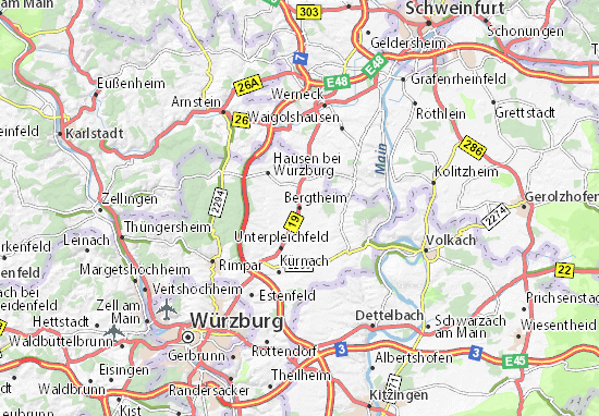 Carte-Plan Bergtheim