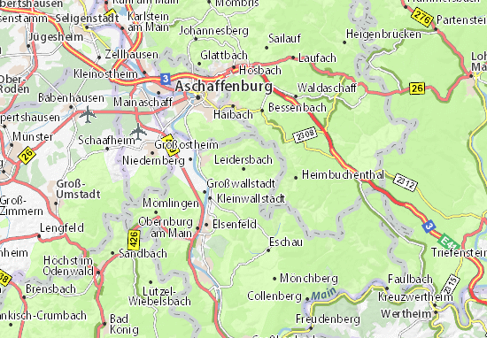 Karte Stadtplan Leidersbach
