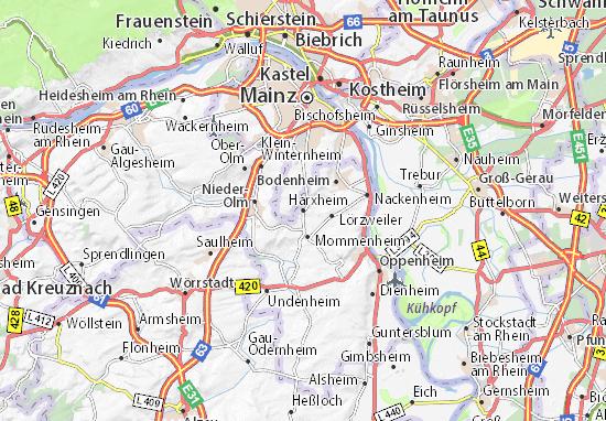 Karte Stadtplan Harxheim