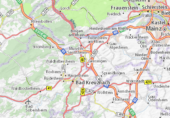 Bingen Germany Map.Grolsheim Map Detailed Maps For The City Of Grolsheim Viamichelin