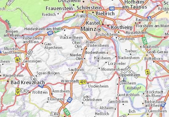 Karte Stadtplan Nieder-Olm