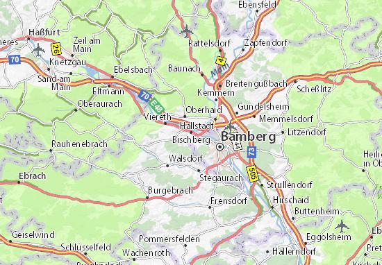 Karte Stadtplan Bischberg