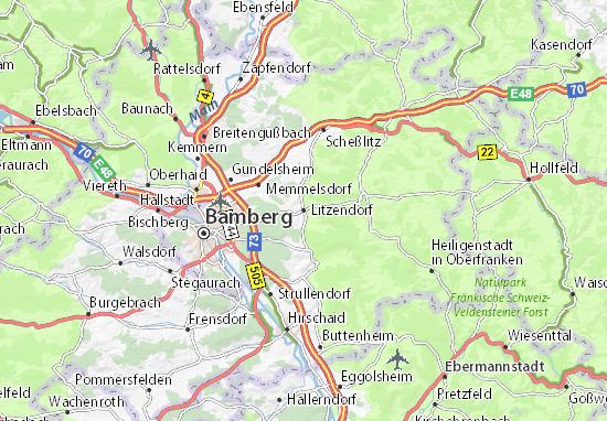 Carte-Plan Litzendorf