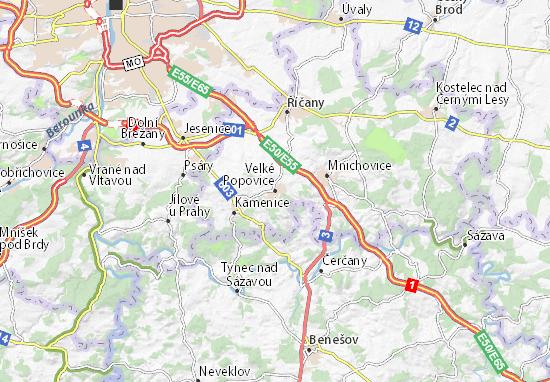 Carte-Plan Velké Popovice