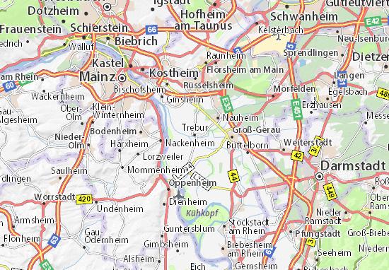 Karte Stadtplan Trebur