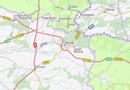 Kaart Plattegrond Hirson