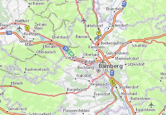 Karte Stadtplan Oberhaid