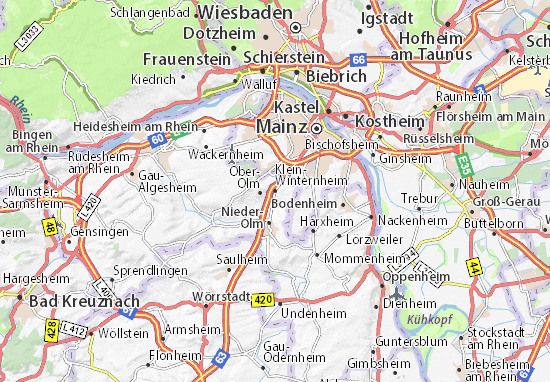 Mapa Plano Klein-Winternheim