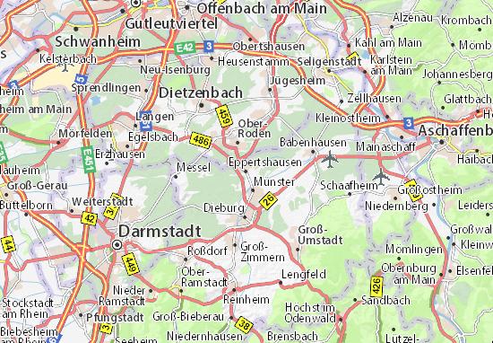Kaart Plattegrond Eppertshausen