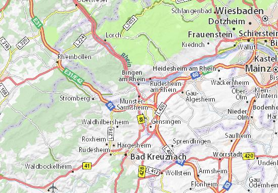Mapa Münster-Sarmsheim