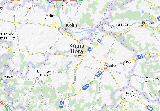 Karte Stadtplan Kutná Hora