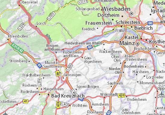 Karte Stadtplan Gau-Algesheim