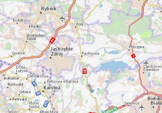 Carte-Plan Pawłowice
