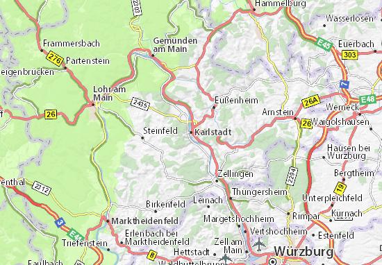 Karte Stadtplan Karlstadt