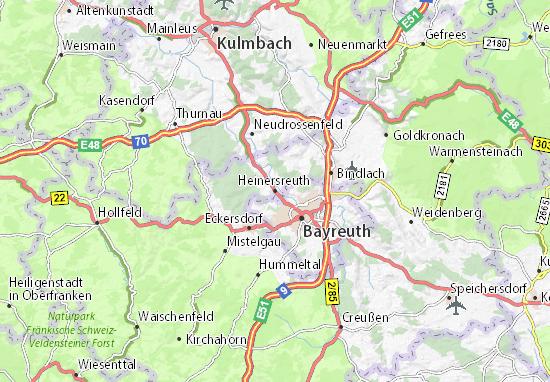 Carte-Plan Heinersreuth