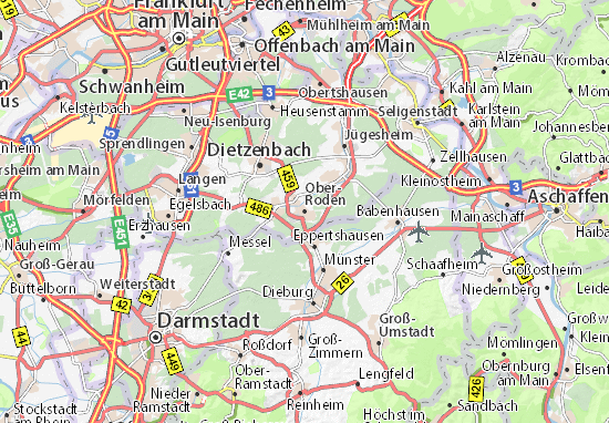 Karte Stadtplan Ober-Roden